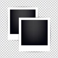 Cornice per foto su uno sfondo trasparente. Cornici vuote