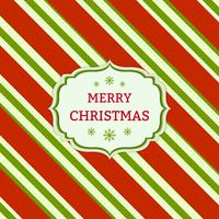Christmas red and green striped card vector