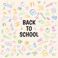 Hand draw back to school background