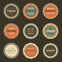 Retro vintage badges instellen
