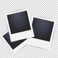 Molduras para fotos em um fundo transparente. Molduras em branco