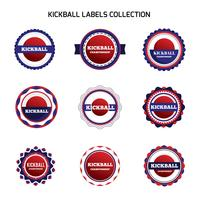 Kickball-labels en badges