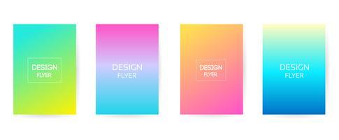Sfondo di colore morbido. Design moderno schermo vettoriale per app mobile. Sfumature di colori tenui