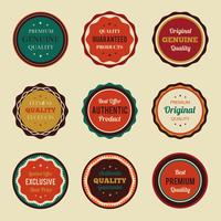 Set de badges vintage rétro