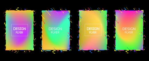 Vektorram för text Modern konstgrafik för hipsters. dynamisk ram stilig geometrisk svart bakgrund med guld. element för design visitkort, inbjudningar, presentkort, flygblad och broschyrer