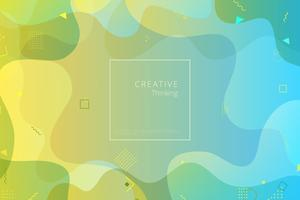 Colorful geometric background. Fluid shapes composition vector