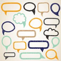 Hand draw speech bubbles vector set