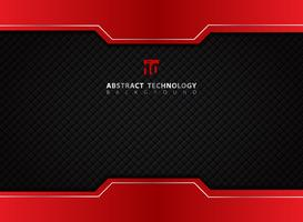 Template red and black contrast abstract technology background.