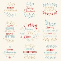 Christmas typographic elements