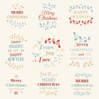 Christmas typographic elements