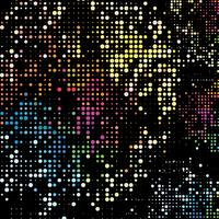 Rainbow dots background. Colorful dots on black background