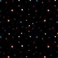Étoiles colorées sur fond noir