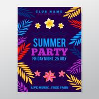 Summer tropical party posterSummer tropical party poster vector