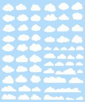 Wolken vector set