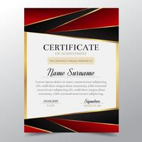 Certificate template with Luxury golden and red elegant design, Diploma design graduation, award, success.Vector illustration.