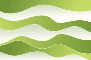 Green waves background, paper effect