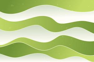 Fundo de ondas verdes, efeito de papel