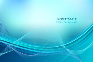 Blue dynamic wavy background vector