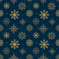 Vintage Snowflakes mönster