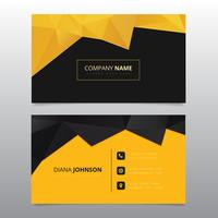 Yellow and black geometric business card