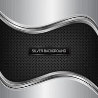Silver metallic background. Silver metallic background on black fiber texture