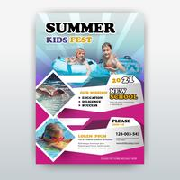 summer flyer vector