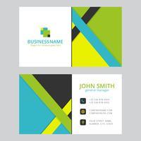 Design moderno modelo de cartão colorido
