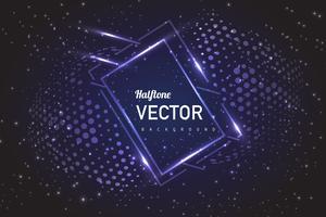 halftone lights background vector