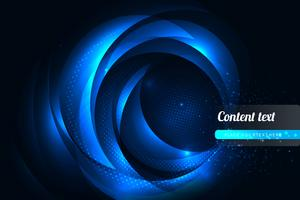 blue wavy in dark background vector