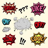 Comic book vector elements
