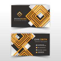 orange and black shape visit card design