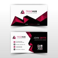 red polygonal business card