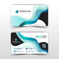 visit card with abstract wavy design