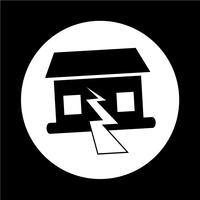 Erdbeben-Symbol