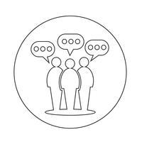 Mensen tekstballon pictogram