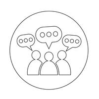Icono de la burbuja del discurso de personas