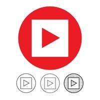 icona del lettore video pulsante