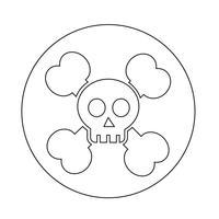 icona dell'osso cranio