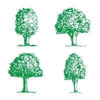 Icône d'arbre dessiné à la main vecteur