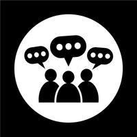 Menschen-Sprechblasen-Symbol