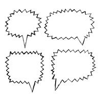 Mão de ícone do discurso bolha desenhada