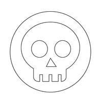 ícone do osso do crânio