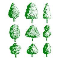 Icono de árbol dibujado a mano