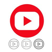 button video player icon vector