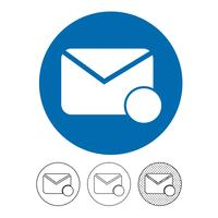email and mail icon vector