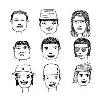 People face cartoon icon