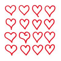 hand draw hearts icon design vector