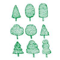 Mão, desenhado, árvore, ícone