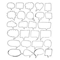 Speech Bubble icon hand drawn