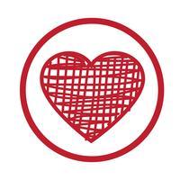 Ilustración de vector de icono de corazón
